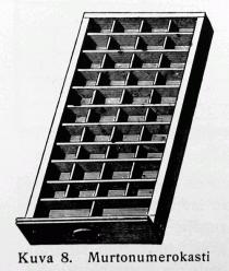 Kuva 8: Murtonumerokasti